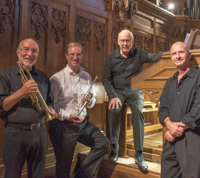 Les 4 musiciens du jour : Cl. Ripas, V. Gillig, D. Pandolfo et Alfred Legrand