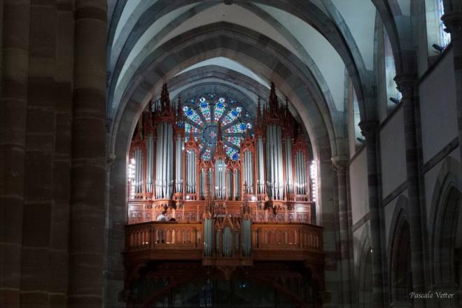 L'orgue Merklin depuis le choeur