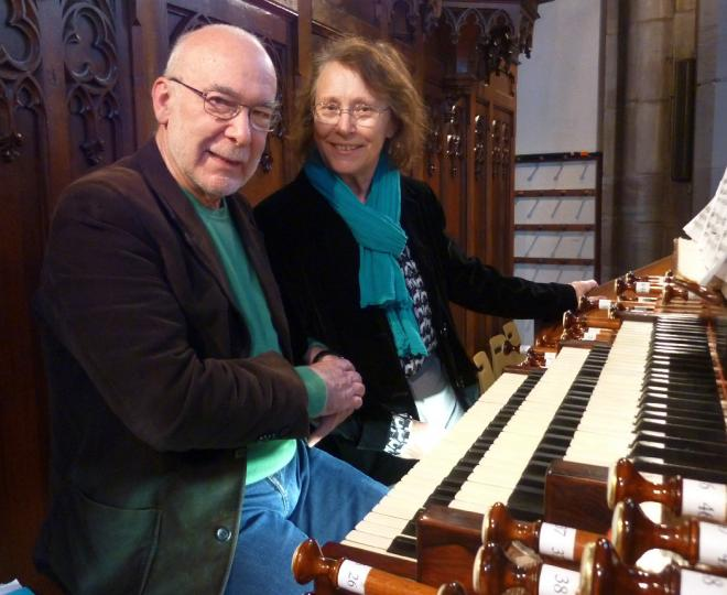 A l'orgue Merklin (HM avril 2018)