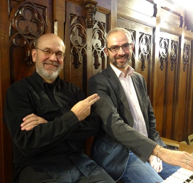 Jean-Luc Iffrig et Roland Lopes registreur du jour