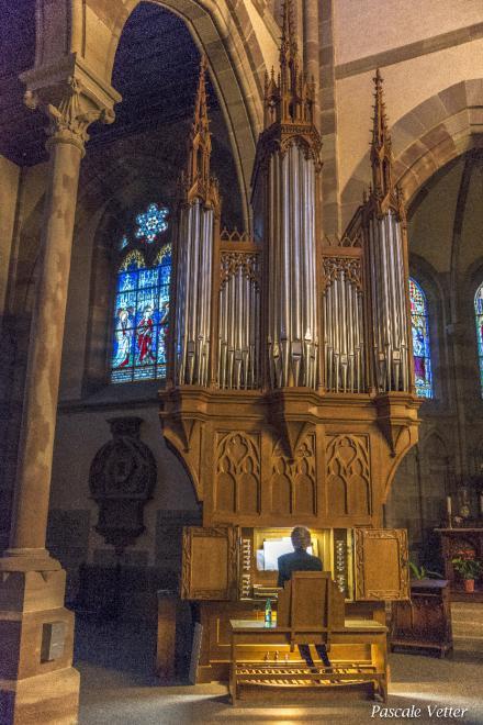 Vue sur l'orgue Koenig