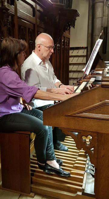 Daniel Pandolfo à l'orgue et Pascale Vetter aux registres 11 juillet 2017