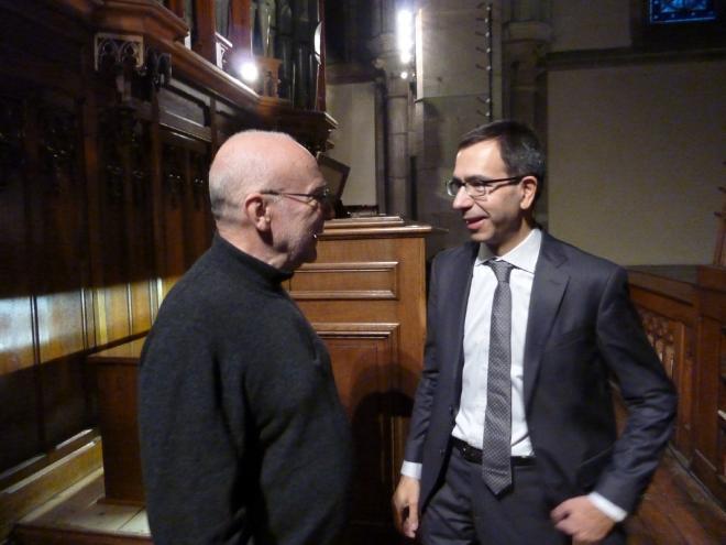 Deux amis : L. Mengoni et D. Pandolfo