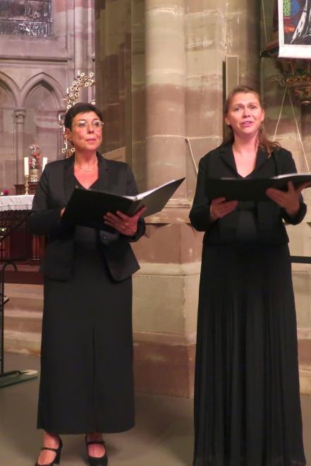 Martine Gaspar et Marie de Roy, les cantatrices