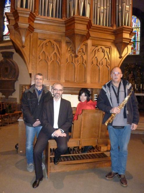 quatuor de musiciens G. Blind, R. Lopes, E. Didier, G. Kieffer