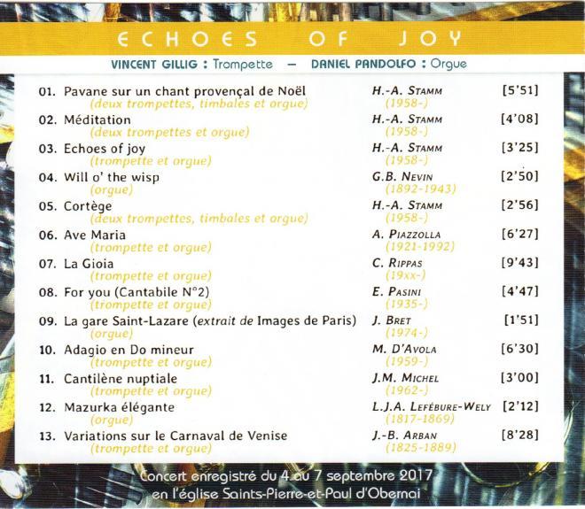 Cd trompette orgue 2017titres