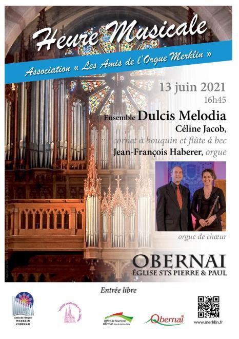 Heure musicale cornet à bouquin et orgue