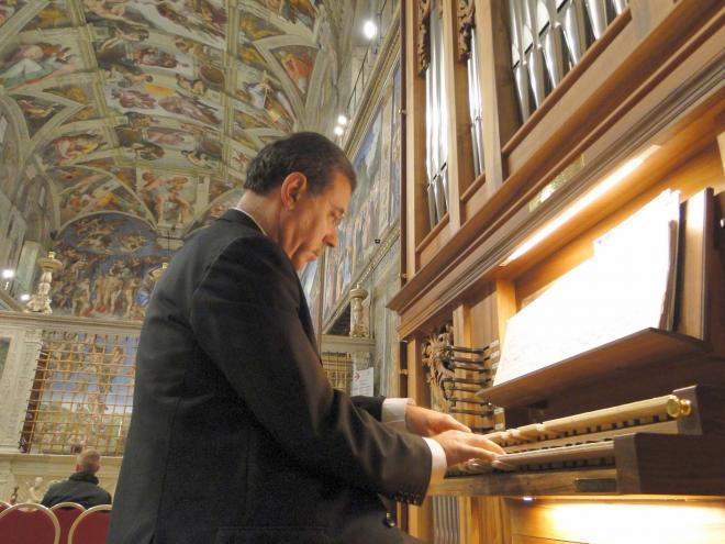 Juan Paradell Sole à la Chapelle Sixtine