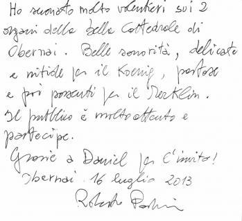 Récital d'orgue : Roberto Padoin